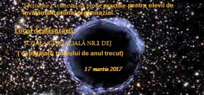 O școală din Dej, gazda celei de-a X-a ediții a concursului științific regional de cultură astronomică – ASTRONOMICUS