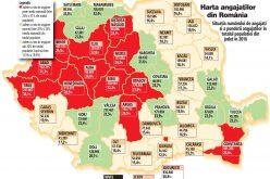 Topul judeţelor în funcţie de rata de angajare: Clujul se află pe cea de-a doua poziție