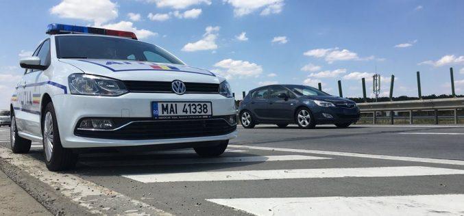 Graba strică treaba! Conducător auto din Cluj, depistat de polițiști cu 214 km/h