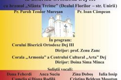 INVITAȚIE   Concert de pricesne, duminică, într-o biserică din Dej