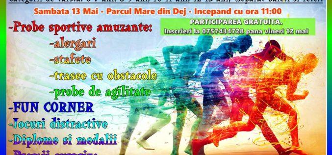 Competiție de aptitudini sportive pentru copii, mâine, în Parcul Mare din Dej