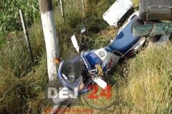 GHERLA: Beat și fără permis de conducere, a intrat cu mopedul într-un gard
