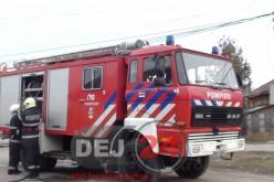 Incendiu pe strada Traian din Dej