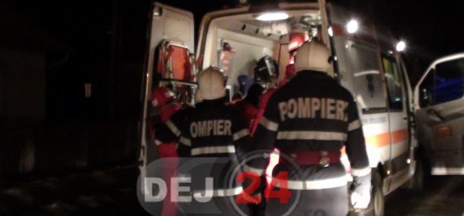 Accident GRAV, azi-noapte, în Cășeiu. Trei persoane au ajuns la spital