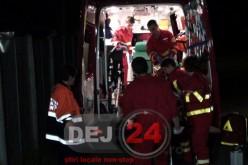 Accident în Bonțida. Un șofer BEAT s-a izbit cu mașina de un parapet și s-a oprit în podeț