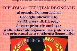 Expoziție formată din relicve ale regimului comunist, în martie, la Muzeul Municipal Dej