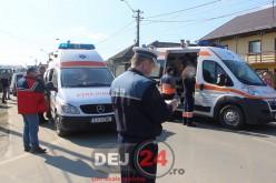 Accident cu mai multe victime pe o stradă din Gherla – GALERIE FOTO