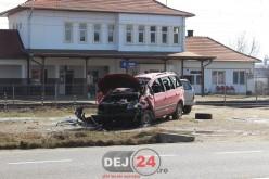 Accident cu o persoană încarcerată, pe DN1C, în Jucu – FOTO