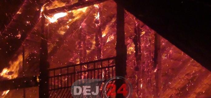 Incendiu în Buza. Un bărbat a fost găsit CARBONIZAT