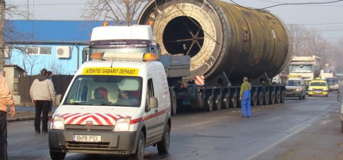 Un transport agabaritic va trece luni prin Dej