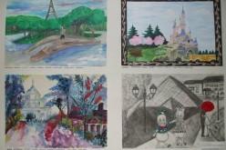 """Expoziţie-concurs de pictură şi desene """"Franţa în imaginaţia copiilor"""", la Dej – FOTO"""