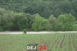 Inundații la Dej. Viitura a măturat culturile agricole, în Șomcutu Mic – FOTO