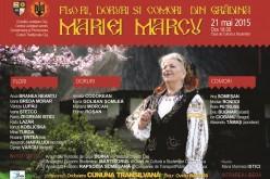 Cunoscută interpretă din Dej, prezentă la un spectacol folcloric extraordinar