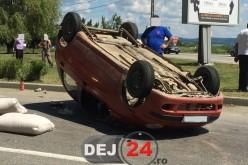 Accident de circulație între Câțcău și Căpâlna. Două persoane au fost rănite