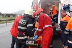 Accident GRAV pe DN1C, la ieșire din Gâlgău. Au intervenit ambulanțe de la Dej