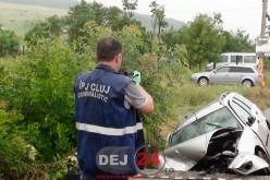 Accident Bunești: șoferul din Dej ar fi depășit prin dreapta unui autovehicul