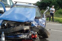 Accident pe DN1C, la ieșire din Câțcău. Patru persoane au ajuns la spital – FOTO/VIDEO