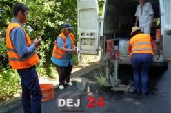 Calitatea lucrărilor de asfaltare, verificată pe tronsonul Dej – Bobâlna