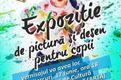 Expoziție de pictură și desen pentru copii, la Casa de Cultură Dej