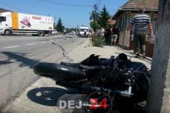 Accident MORTAL în Iclod. Un motociclist și-a pierdut viața – FOTO/VIDEO