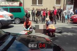 Accident MORTAL în Dej. Un bătrânel a fost izbit în plin de o mașină – FOTO/VIDEO