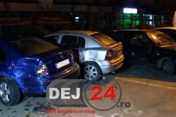SCANDAL la Gherla. Șase mașini avariate, trei persoane agresate, între care și un polițist – FOTO/VIDEO
