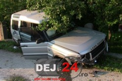Accident la Coplean. A intrat cu autoturismul în gardul unei case – FOTO/VIDEO