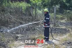 UN NOU INCENDIU la TOROC. Au intervenit pompierii din Dej