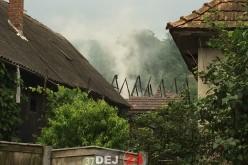 Incendiu în Unguraș. Pompierii din Dej, solicitați să intervină – FOTO