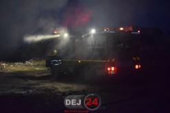 Incendiu în comuna Bobâlna. Pompierii din Dej, cu două autospeciale la fața locului