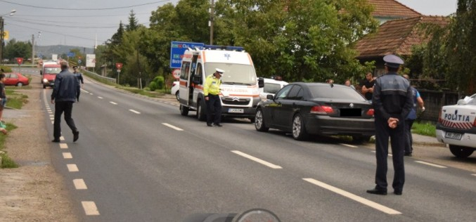 GRAV ACCIDENT la Șimișna, provocat de o tânără din Dej