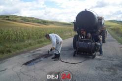 Lucrările la DJ161D, Nireș-Unguraș-Batin, sunt în plină desfășurare – FOTO