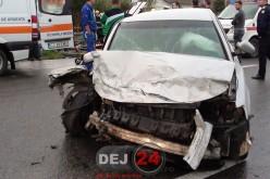 GHINION TERIBIL pentru un bărbat din Nicula. I-AU FURAT mașina și au abandonat-o la Dej. Când și-a recuperat-o, a făcut accident – FOTO/VIDEO