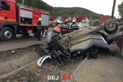 ACCIDENT GRAV pe strada Șomcutului din Dej. TREI PERSOANE au ajuns la spital – FOTO/VIDEO