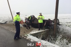 MULTIPLE ACCIDENTE RUTIERE la ICLOD. Poleiul a dat serioase bătăi de cap șoferilor – FOTO/VIDEO
