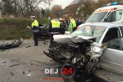 Circulația pe DN17, între Dej și Bistrița, oprită din cauza unui accident rutier