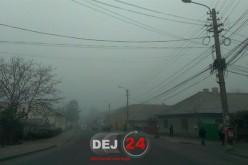 COD GALBEN de ceață la Dej! Izolat, pot fi semnalate și condiții de polei