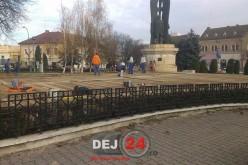S-a deschis patinoarul din centrul municipiului Dej
