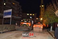 Lucrările din centrul municipiului Dej, aproape finalizate – FOTO