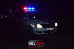 ACCIDENT la Dej. Un autocamion a rupt un stâlp de electricitate