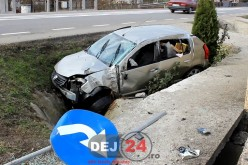 Bărbat din Dej, implicat într-un accident petrecut în Fundătura – FOTO/VIDEO
