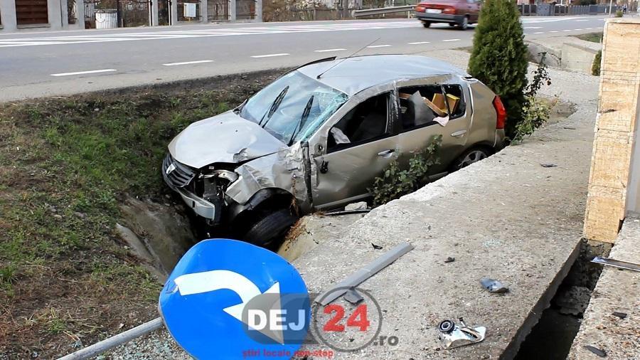 accident Fundatura masina in sant (1)