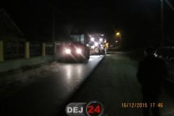 Strada Jichişului din Dej, aproape de finalizare. Se lucrează și noaptea – FOTO