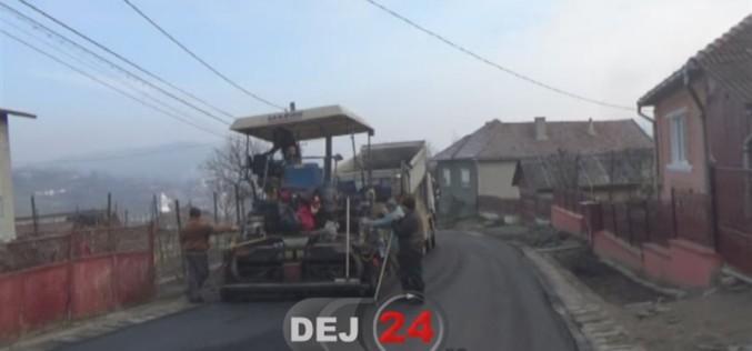 Strada Pinticului din Dej, aproape finalizată – FOTO/VIDEO