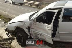 Accident la doi pași de Dej, în Curtuiușu Dejului! Vinovat, un bărbat fără permis de conducere