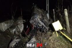 ACCIDENT SPECTACULOS în Coldău. Două persoane au ajuns la spital – FOTO/VIDEO