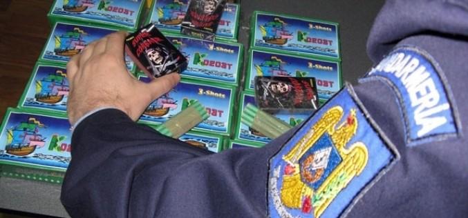 Peste 10.000 de articole pirotehnice, confiscate de polițiștii clujeni