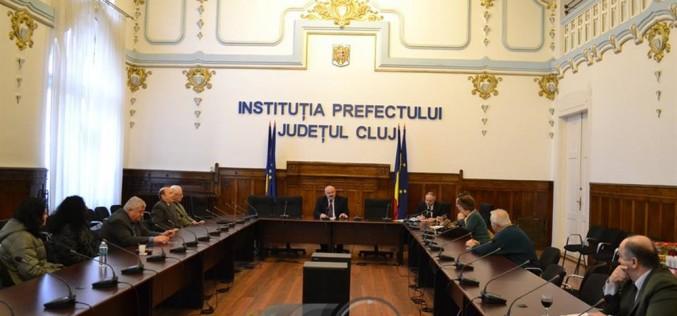 Ședință de lucru a Comisiei județene, pentru stabilirea dreptului de proprietate privată asupra terenurilor din județul Cluj
