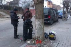 Secvențe ale unui film, înregistrate astăzi la Dej – FOTO (ACTUALIZARE)