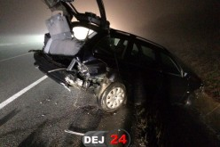 ACCIDENT la intrare în Dej! Două mașini au fost serios avariate